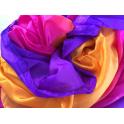 Voile en soie violet fuchsia orange