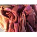 Voile en soie tie & dye doré rosé ocre