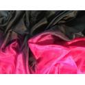 Voile noir rose framboise