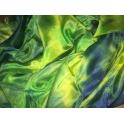 Voile en soie tie & dye vert jaune