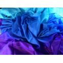 Voile violet turquoise bleu