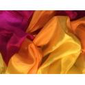 Voile jaune orange rose