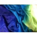 Voile bleu turquoise jaune/vert